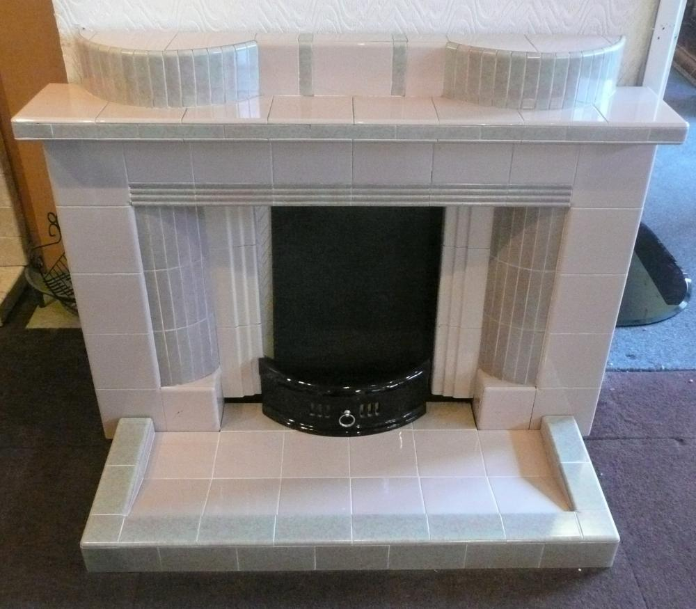 1950's Original fireplace and hearth in Ivory