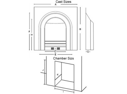 Dimensions for the Crown Arch