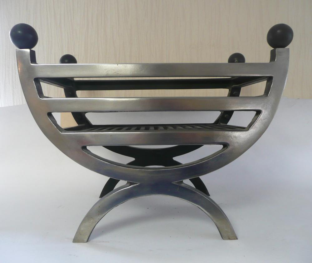 Small cottage Fire Basket - Cast Iron with polished front