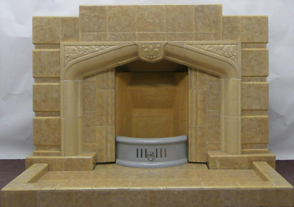 1930's original fireplace and hearth