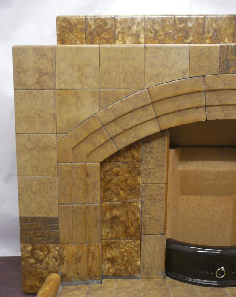 1930's Arched fireplace