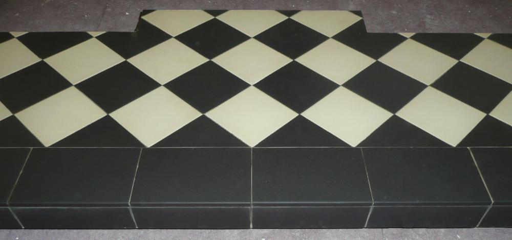 The tiles are quarry tiles