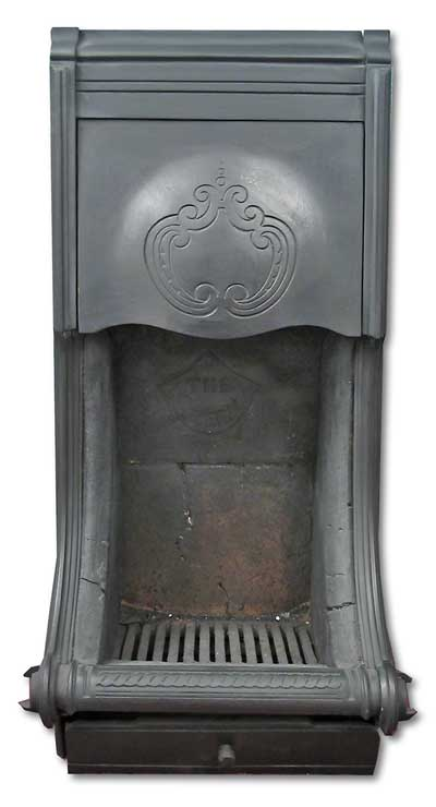 Cast Iron Victorian Canopy on Legs Fireplace Insert - Parson's Grate