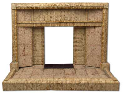 1950s all tiled fireplace made with Van Delft tiles