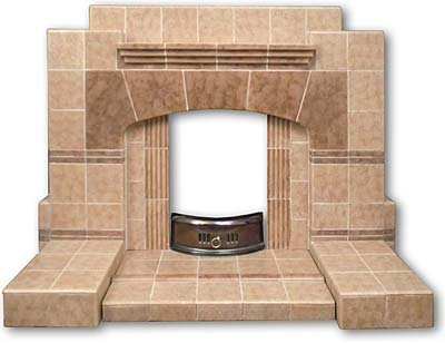 1940s Or 1950s Tiled Fireplace Twentieth Century Fireplaces