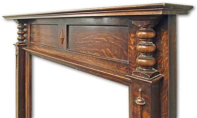 Arts and Crafts inspired Oak Mantel