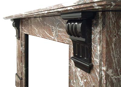 Victorian Rouge Marble Mantel
