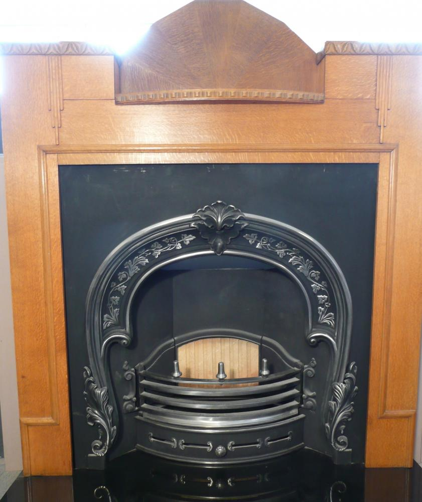 1930's Mantel with Cast Iron Insert