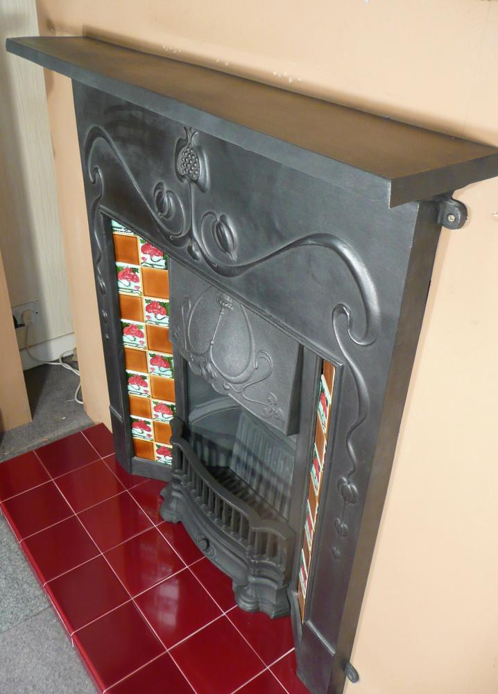 The showroom bargain price for this Art Nouveau Style cast iron fireplace is £330