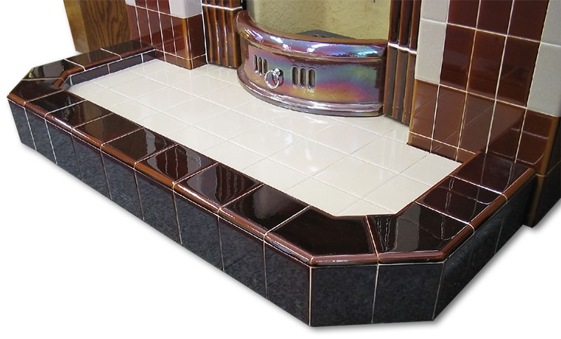 c20 chamfered kerbed hearth