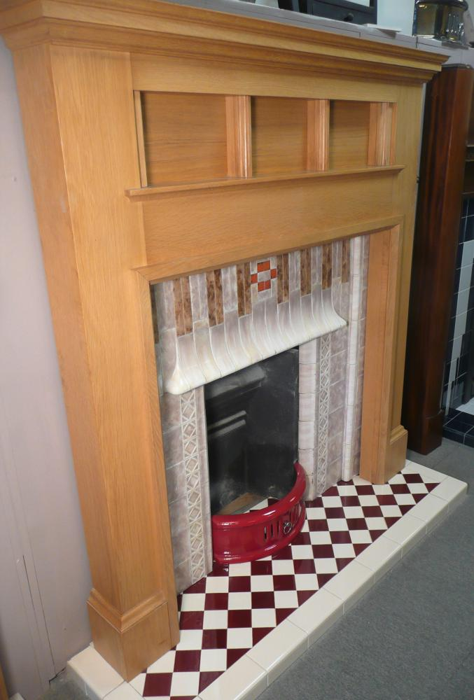 Tiled insert and Hearth