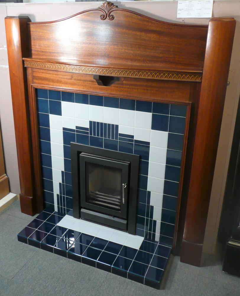 Mantel: Arts and Crafts and Art Deco influence