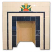 Flat Fronted sunrise pattern Insert with Tubelined tiles