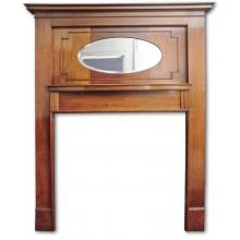 Vintage 920's mantel with oval mirror