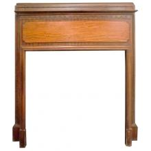 Vintage Arts and Crafts mantel with hand-carved mouldings