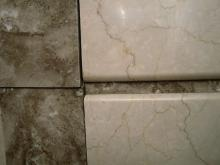 1950s marble fireplace detail