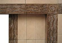 1940s All Tiled Fireplace