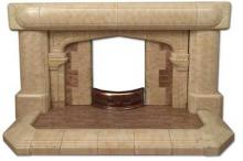 1930s Tudor Arched Fireplace