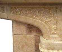 1930s Tudor Arched Fireplace detail