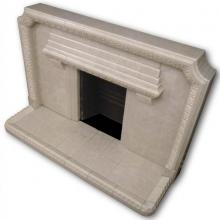 1940s tiled fireplace in grey