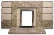1950s marble fireplace
