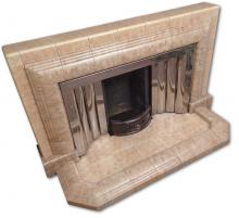 Vintage 1940s  fireplace with stainless steel insert