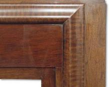 Detail of tiger striped bolection moulding