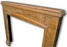 Oak mantel from the late 1920s high angle